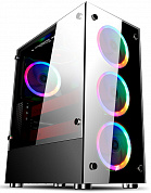 Корпус 1STPLAYER FIRE DANCING V6 / ATX, tempered glass side panels / 4x 120mm LED fans inc. / V6-4R1